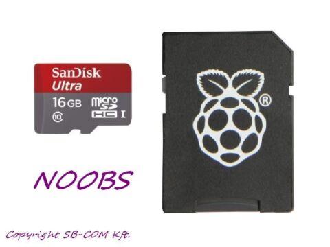 16GB SD Card Raspberry Pi NOOBS