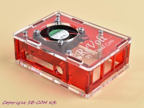 Revolt Pi 4 Cool Box - Red verzió