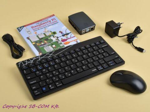 Raspberry Pi 4 desktop kit magyar verzió fekete