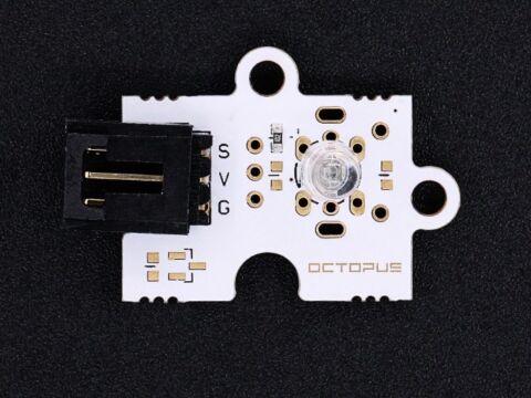 Octopus 5mm-es kék LED modul
