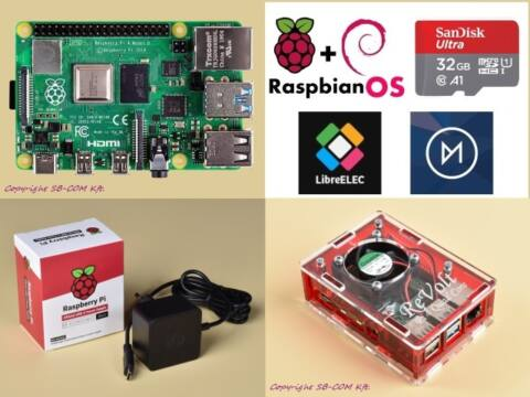 Revolt Pi 4 Cool KIT 2GB RAM / 32GB SD - Red