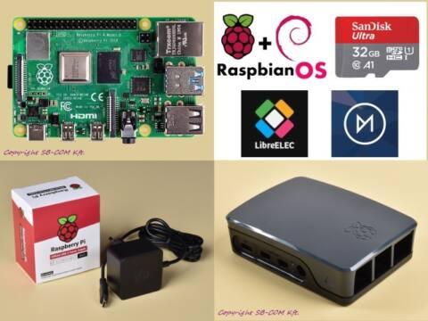 Raspberry Pi 4 Official KIT 4GB RAM / 32GB SD - Black