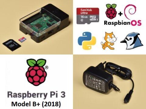 Raspberry Pi 3 B+ tanuló csomag 2.1A tápegységgel