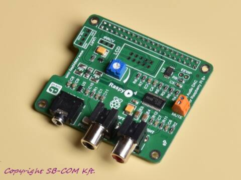 RaspyPlay4 Hi-Fi Audio DAC Raspberry Pi-hez
