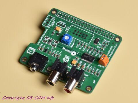 RaspyPlay4 Hi-Fi Audio DAC Raspberry Pi-hez